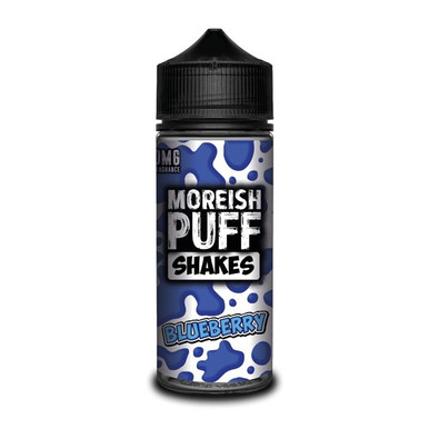 Blueberry Shakes E Liquid (Zero Nicotine & Free Nic Shots to make 120ml/3mg) by Moreish Puff