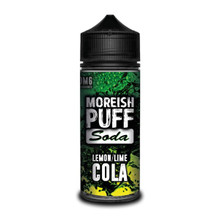 Lemon & Lime Cola E Liquid (Zero Nicotine & Free Nic Shots to make 120ml/3mg) by Moreish Puff