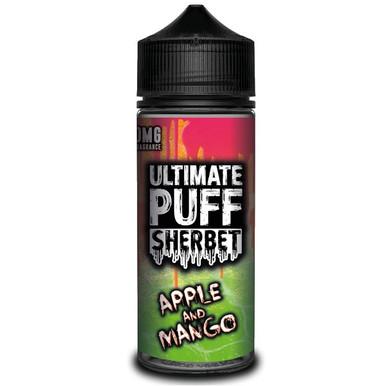 Apple & Mango Sherbet E Liquid (Zero Nicotine & Free Nic Shots to make 120ml/3mg) by Ultimate Puff