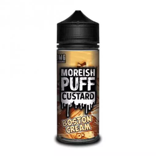 Boston Cream Custard E Liquid (Zero Nicotine & Free Nic Shots to make 120ml/3mg) by Moreish Puff