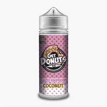 Glazed Raspberry Coconut  E Liquid (Zero Nicotine & Free Nic Shots to make 120ml/3mg) by Get Donuts