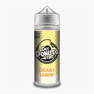 Creamy Lemon E Liquid (Zero Nicotine & Free Nic Shots to make 120ml/3mg) by Get Donuts