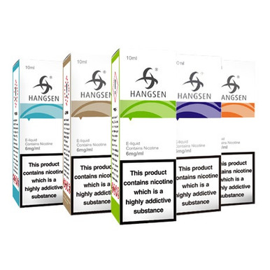 Selected 10 x 10ml Hangsen E Liquids Variety Pack £9.99