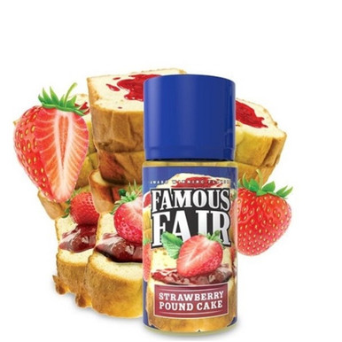 Strawberry Pound Cake E Liquid 100ml by Famous Fair