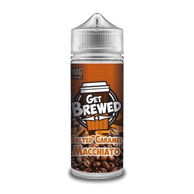 Salted Caramel Macchiato E Liquid (Zero Nicotine & Free Nic Shots to make 120ml/3mg) by Get Brewed