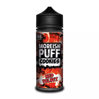 Red Velvet Cookies E Liquid (Zero Nicotine & Free Nic Shots to make 120ml/3mg) by Moreish Puff