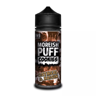Oatmeal & Raisin Cookies E Liquid (Zero Nicotine & Free Nic Shots to make 120ml/3mg) by Moreish Puff