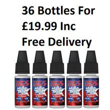 36 Pack x 10ml Point Five Ohms E liquids Free Delivery