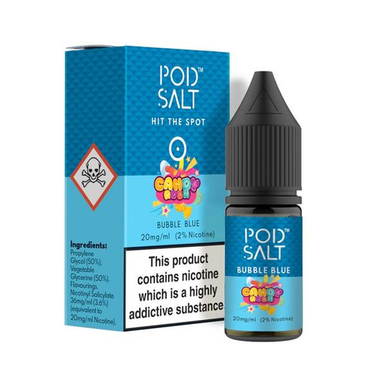 Bubble Blue - Pod Salt - 20mg Nicotine Salts E Liquid - 10ML