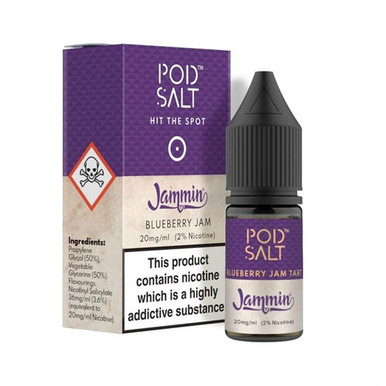 Blueberry Jam Tart - Pod Salt - 20mg Nicotine Salts E Liquid - 10ML