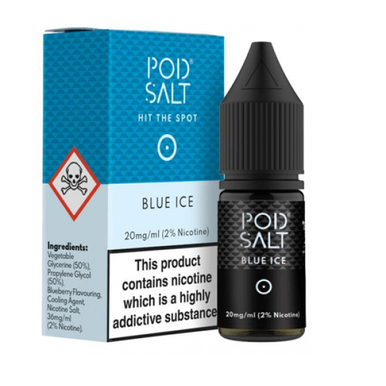 Blue Ice - Pod Salt - 20mg Nicotine Salts E Liquid - 10ML