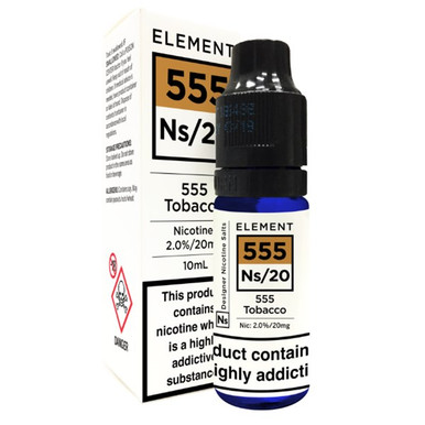 555 Tobacco - Element NS20 - 20mg Nicotine Salts E Liquid - 10ML