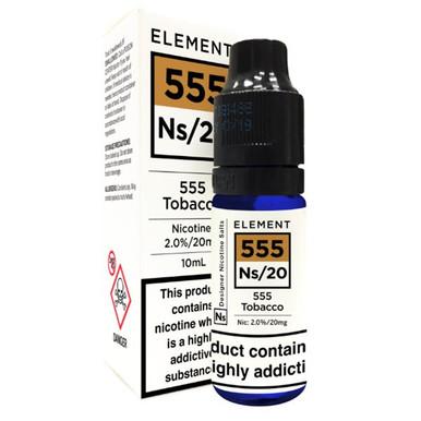 555 Tobacco - Element NS20 - 20mg Nicotine Salts E Liquid - 10ML