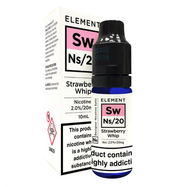Strawberry Whip - Element NS20 - 20mg Nicotine Salts E Liquid - 10ML