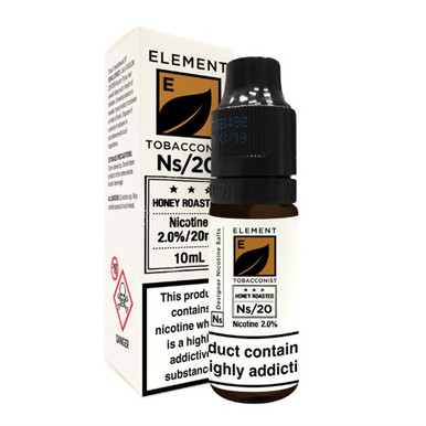 Honey Roasted Tobacco - Element NS20 - 20mg Nicotine Salts E Liquid - 10ML