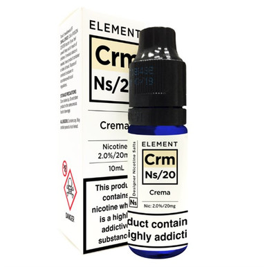 Crema - Element NS20 - 20mg Nicotine Salts E Liquid - 10ML