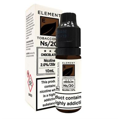 Chocolate Tobacco - Element NS20 - 20mg Nicotine Salts E Liquid - 10ML