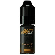 Bronze Blend Nic Salt E Liquid 10ml By Nasty Salt