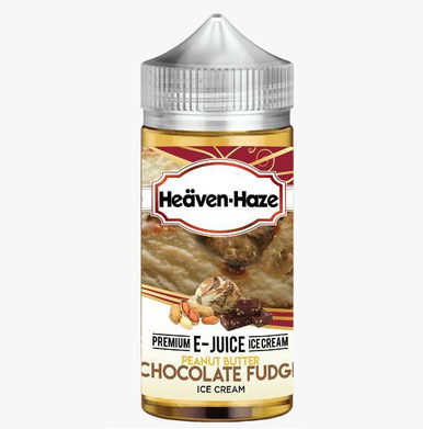 Peanut Butter Chocolate Fudge Ice Cream E Liquid (Zero Nicotine & Free Nic Shots to make 120ml/3mg) by Heaven Haze
