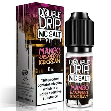 Mango Raspberry Ice Cream Nic Salt 20mg E Liquid 10ml By Double Drip