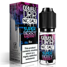 Super Berry Sherbet Nic Salt 20mg E Liquid 10ml By Double Drip
