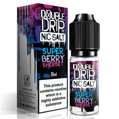 Super Berry Sherbet Nic Salt 20mg E Liquid 10ml By Double Drip