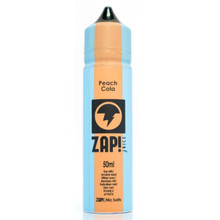 Peach Cola E Liquid 50ml by Zap! Only £11.99 (Zero Nicotine or with Free Nicotine Shot)