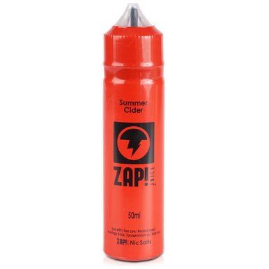 Summer Cider E Liquid 50ml by Zap! Only £11.99 (Zero Nicotine or with Free Nicotine Shot)