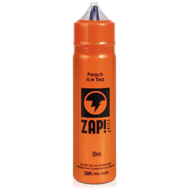 Peach Ice Tea E Liquid 50ml by Zap! Only £11.99 (Zero Nicotine or with Free Nicotine Shot)