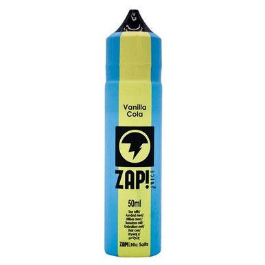 Vanilla Cola E Liquid 50ml by Zap! Only £9.49 (Zero Nicotine or with Free Nicotine Shot)