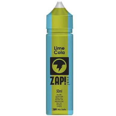Lime Cola E Liquid 50ml by Zap! Only £11.99 (Zero Nicotine or with Free Nicotine Shot)
