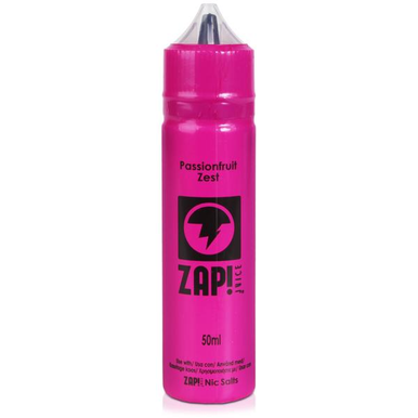 Passionfruit Zest E Liquid 50ml by Zap! Only £9.49 (Zero Nicotine or with Free Nicotine Shot)