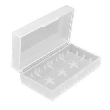 Clear - Dual 18650 - Hard Plastic Battery Case