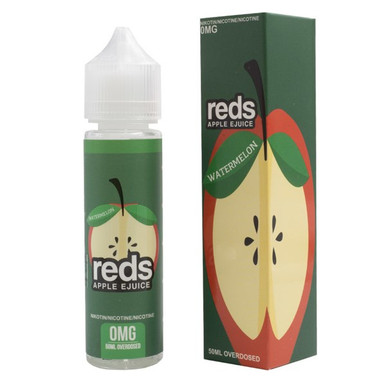 Watermelon E Liquid 50ml (60ml with 1 x 10ml nicotine shots to make 3mg) Shortfill by Reds E Juice