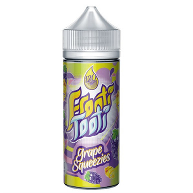 Grape Squeezies E Liquid 100ml Shortfill (120ml with 2 x 10ml nicotine shots to make 3mg) by Frooti Tooti E Liquids Only £12.99 (FREE NICOTINE SHOTS)