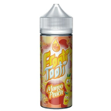 Mango Peach E Liquid 100ml Shortfill (120ml with 2 x 10ml nicotine shots to make 3mg) by Frooti Tooti E Liquids Only £12.99 (FREE NICOTINE SHOTS)