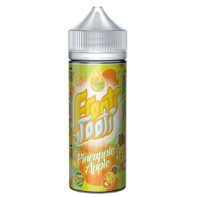 Pineapple Apple E Liquid 100ml Shortfill (120ml with 2 x 10ml nicotine shots to make 3mg) by Frooti Tooti E Liquids Only £12.99 (FREE NICOTINE SHOTS)