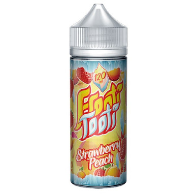 Strawberry Peach E Liquid 100ml Shortfill (120ml with 2 x 10ml nicotine shots to make 3mg) by Frooti Tooti E Liquids Only £12.99 (FREE NICOTINE SHOTS)