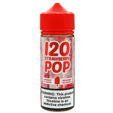 120 Strawberry Pop Eliquid 100ml (120ml with 2 x 10ml nicotine shots to make 3mg)  by Mad Hatter Juice (FREE NICOTINE SHOTS)