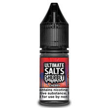 Cherry Sherbet 10ml Nic Salt E Liquid By Ultimate Salts