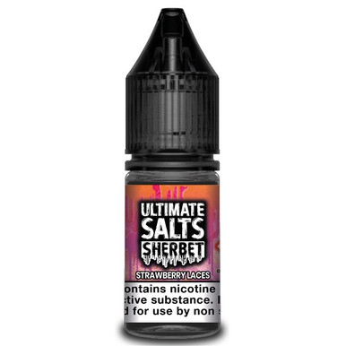 Strawberry Laces Sherbet - Ultimate Salts - 10ml Nic Salts
