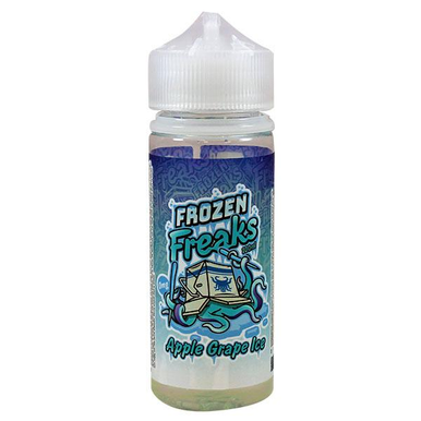 Apple & Grape Ice Eliquid 100ml (120ml with 2 x 10ml nicotine shots to make 3mg)  by Frozen freaks. Only £18.99 (FREE NICOTINE SHOTS)