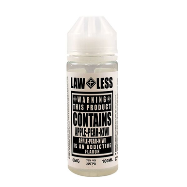 Apple Pear Kiwi E Liquid Shortfill (120ml with 2 x 10ml nicotine shots to make 3mg) Lawless By Flawless E Liquid Only £18.99 (Zero Nicotine)