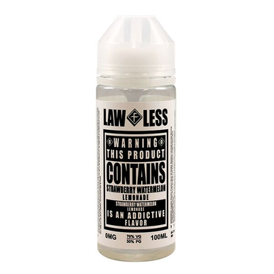 Strawberry Watermelon Lemonade E Liquid Shortfill (120ml with 2 x 10ml nicotine shots to make 3mg) Lawless By Flawless E Liquid Only £18.99 (Zero Nicotine)