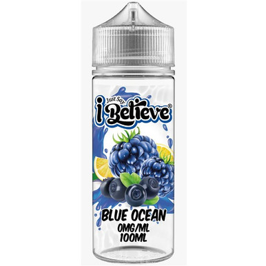 Blue Ocean E Liquid 100ml Shortfill By Just Say I Believe