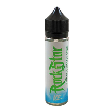 Applecurrant Lime Ice E-Liquid 50ml (60ml with 1 x 10ml 18mg Nicotine Shot making 3mg liquid) Shortfill by Rockstar Vape