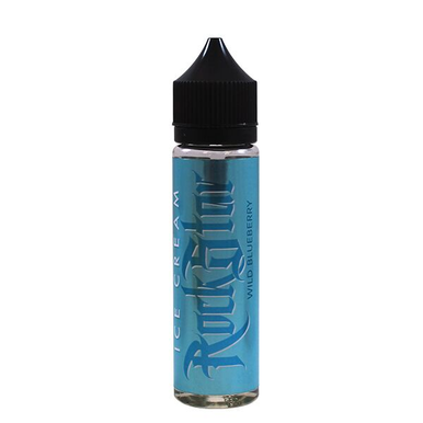 Wild Blueberry Ice Cream E-Liquid 50ml (60ml with 1 x 10ml 18mg Nicotine Shot making 3mg liquid) Shortfill by Rockstar Vape