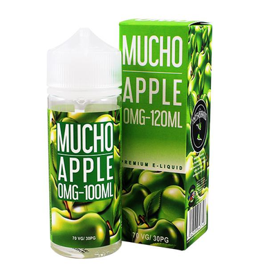 Apple E Liquid 100ml Shortfill 0mg (120ml with 2 x 10ml Nicotine Shots Making Liquid 3mg) By Mucho