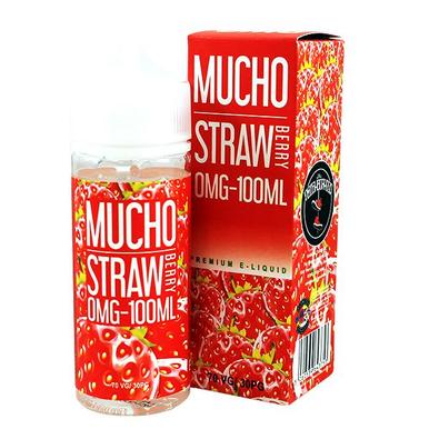 Strawberry E Liquid 100ml Shortfill 0mg (120ml with 2 x 10ml Nicotine Shots Making Liquid 3mg) By Mucho
