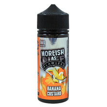 Banana Custard E Liquid 100ml Shortfill 0mg (120ml with 2 x 10ml Nicotine Shots Making Liquid 3mg) By Moreish As Flawless